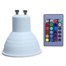 5W E27 GU10 LED Buble Remote Control RGBW Plastic Package Aluminum Lamp Bulb