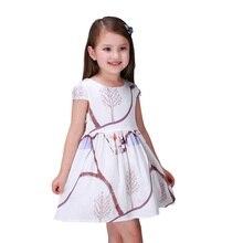 2016 D'été Sans Manches Filles Robes Cérémonie Prochaine * Enfants Princesse Party Girls Robe infantile Robes Taille 3 4 5 6 7 8 9 10 11 12