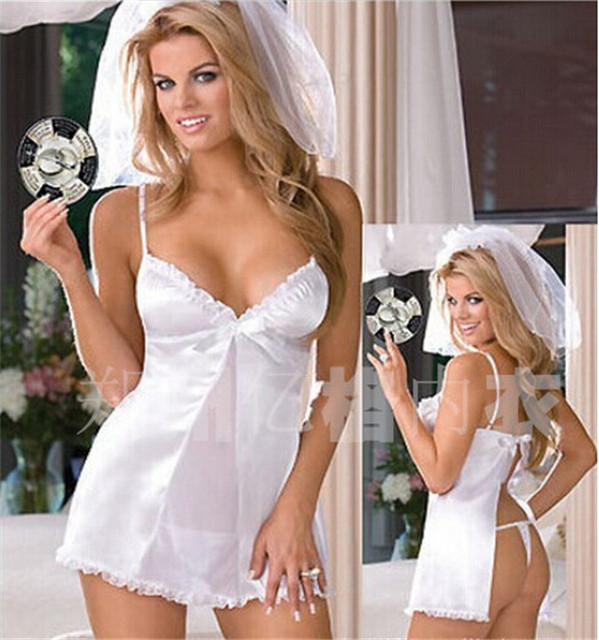 Women S Wedding Bride Costumes Bridal Night Suits Intimate Babydoll Fantasias Cosplay Y Exotic Nightwear Underwear