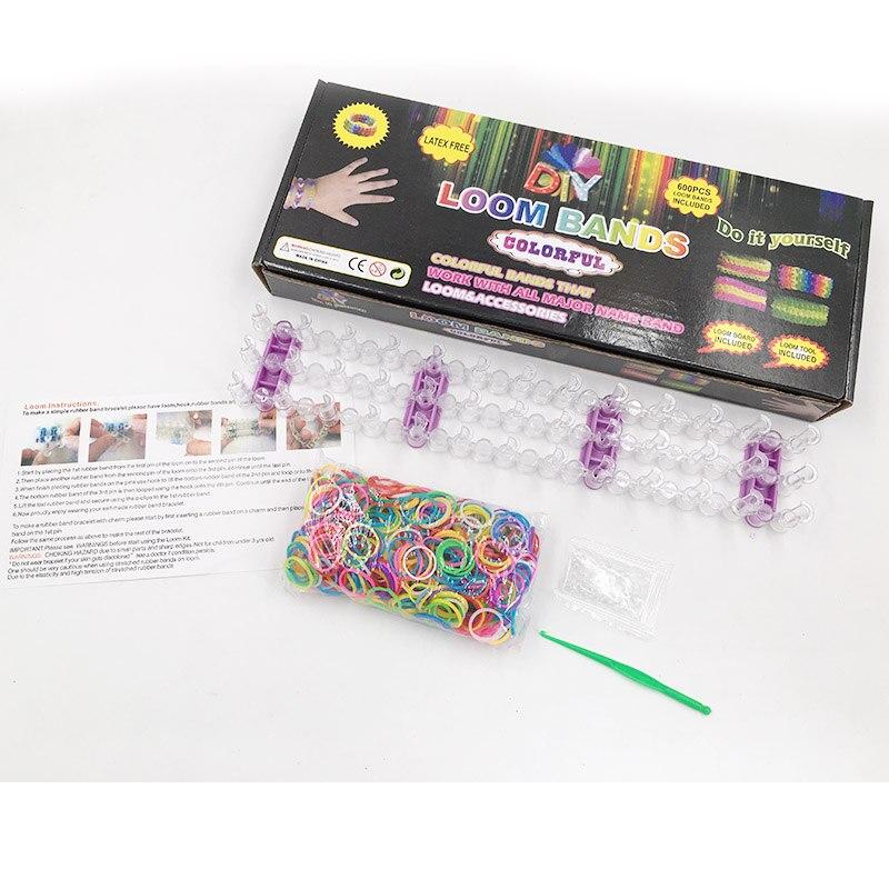 Jouets éducatifs pour enfants bracelet tissage BRICOLAGE Bracelet En Caoutchouc Coloré Élastique En Caoutchouc Plus Brillants et plus forte bandes disponibles