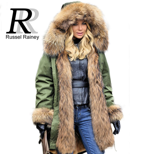 Fandy Lokar Fur Parka Winter Women Jacket Warm Long Military Parka ...