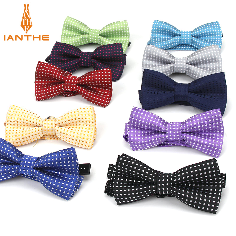 Children Fashion Formal Polyester Bow Tie Kid Classical Dot Bowties Colorful Butterfly Wedding Party Pet Bowtie Tuxedo Baby Ties
