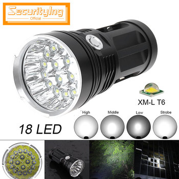 Super Bright 18 x XML T6 LED Aluminum Waterproof Flashlight Torch Wholesale Lamp LED Lights Support 18650 Rechargeable Lighting sitemap 33 xml