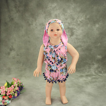 pink floral summer baby girls pompom outfits cute toddler