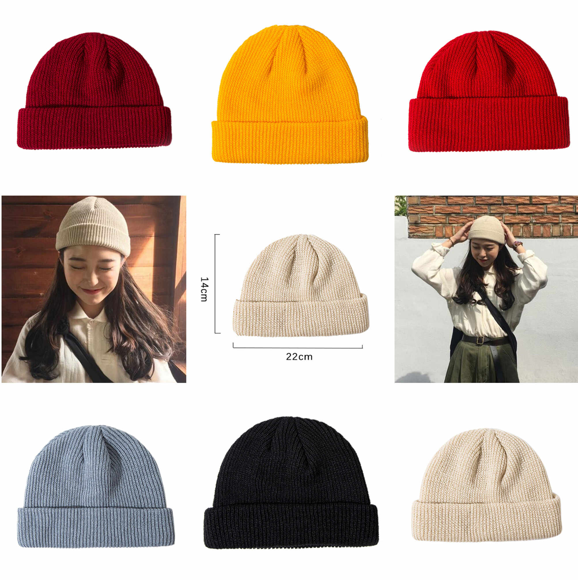 454bef642c5 Winter Hats For Woman New Beanies Knitted Solid Cute Hat Girls Autumn Female  Beanie Caps Warmer