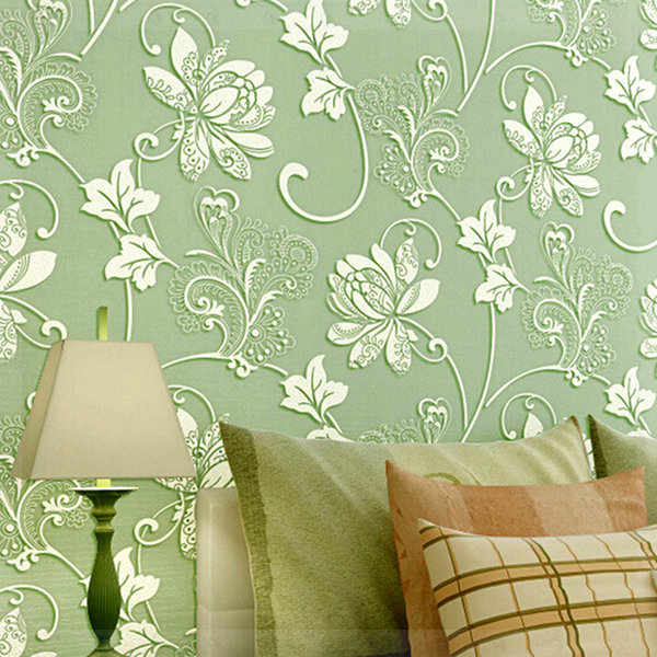 Aliexpress Com Buy Modern European 3d Wallpaper For Walls Damask Bedroom Of Floral Wall Paperpapel De Parede Tv Background Floral Desktop Wallpaper From