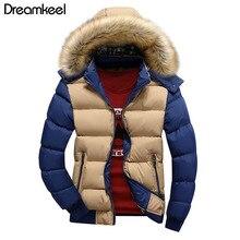 Мужские пальто в стиле пэчворк с капюшоном, утолщенная хлопковая куртка, осенне-зимние куртки, новинка, парка для мужчин, Homme, модное мужское пальто, плюс размер 4XL X