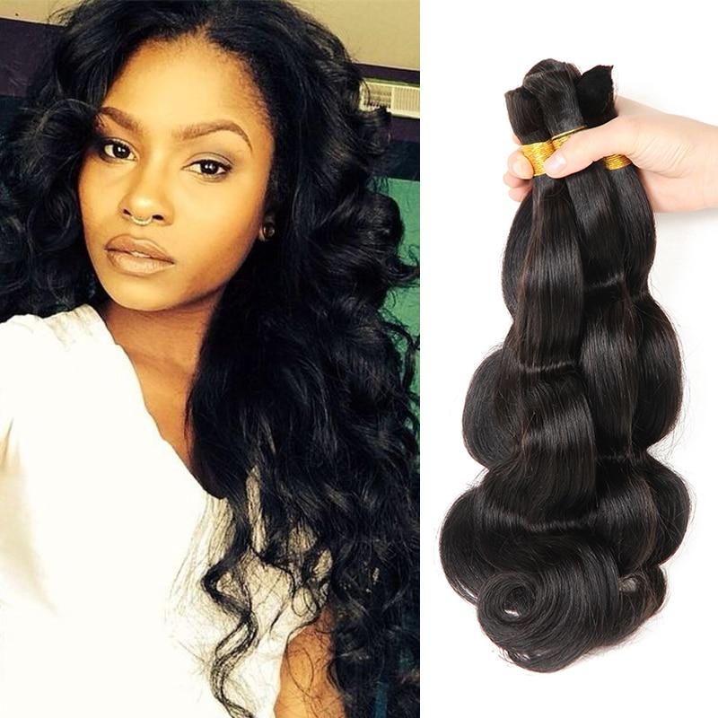 Brazilian Braiding Hair Bulk No Weft 3 Bundles Body Wave