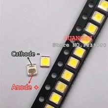 500 pièces dorigine pour LG Innotek LED rétro éclairé LCD, Application LED, rétroéclairé, 1W, 3V, 1210 2835, blanc frais, LED