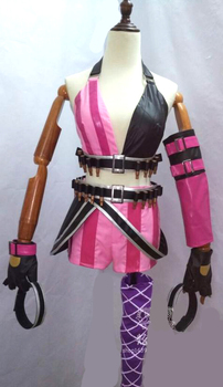 Jinx Cosplay Costume Lol Game Party Carnival Halloween Costumes For Women 3