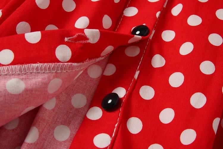 ALPHALMODA 18 New Polka Dot Shirt Pocket Dress Petal Sleeve Single Breasted Slim Sashes Women Fashion Summer Vestidos 12