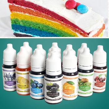 12 colors 10ML Macaron Ice Cream Cake Food Coloring Ingredients Cake Fondant Baking Cake Edible Color Pigment Tools 1
