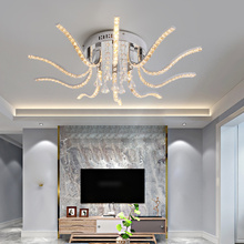 цены Chrome Plated Finish Crystal RC Modern Led Chandelier For Living Room Bedroom Sutdy Room Dimmable Ceiling Chandelier Fixtures