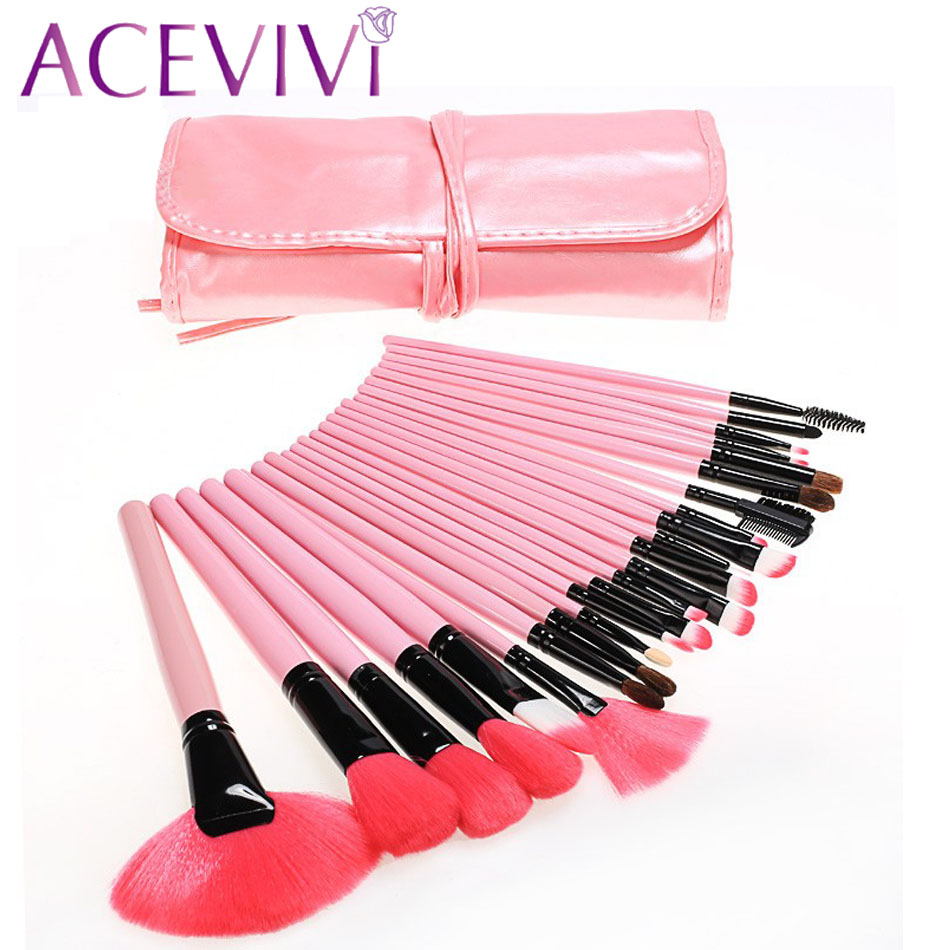 Professional 24 pcs Makeup Brush Set tools Make-up Toiletry Kit Wool Brand Make Up Brush Set Case Cosmetic brush 63 hot sale professional 24 pcs makeup brush set tools make up toiletry kit wool brand make up brush set cosmetic brush case