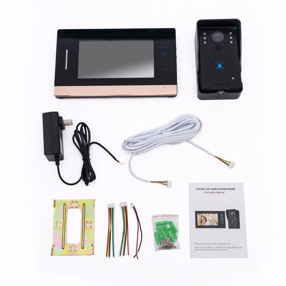 WD03KW11 7-Inch Screen Wired Visual Doorbell Infrared Night Vision Door Bell Video Intercom Door Phone Home Security