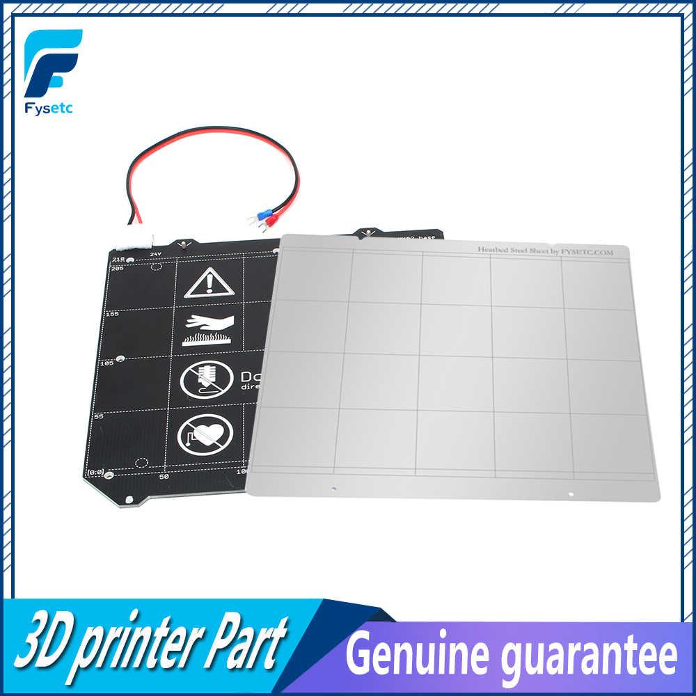 Clone Prusa i3 MK3 3D เครื่องพิมพ์ MK3 แม่เหล็กเตียงอุ่น MK52 สายไฟ Thermistor ชุดแม่เหล็ก + เหล็กแผ่นสำหรับ prusa i3 MK3 MK3S