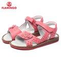 Flamingo famosa marca 2017 recién llegado de primavera y verano los niños sandalias de moda de alta calidad para las niñas 61-ws101