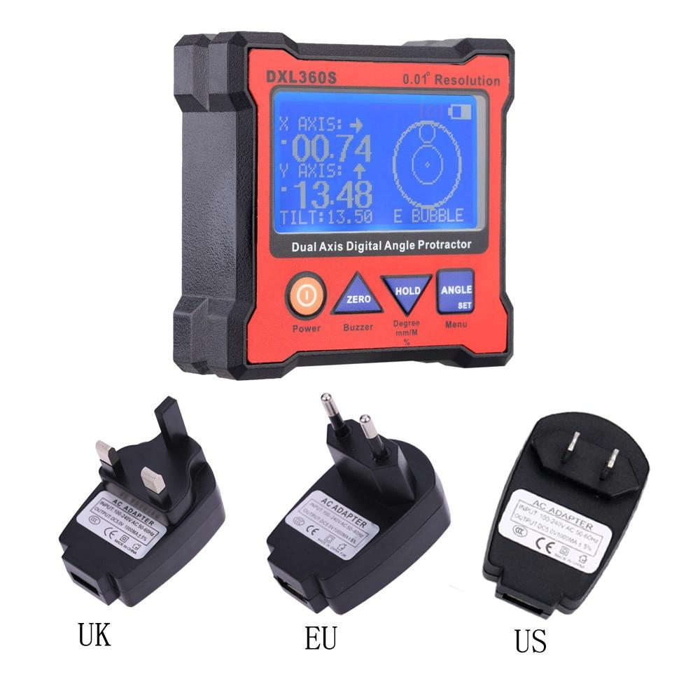 EU Plug Dual Axis Angle Protractor dumpy level High precision Dual axis Level Gauge diagnostic tool