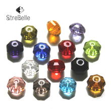 Wholesale 100pcs 8mm Rondelle Round Spacer Faceted Beads For Women Bracelet Bangle Making AAA8
