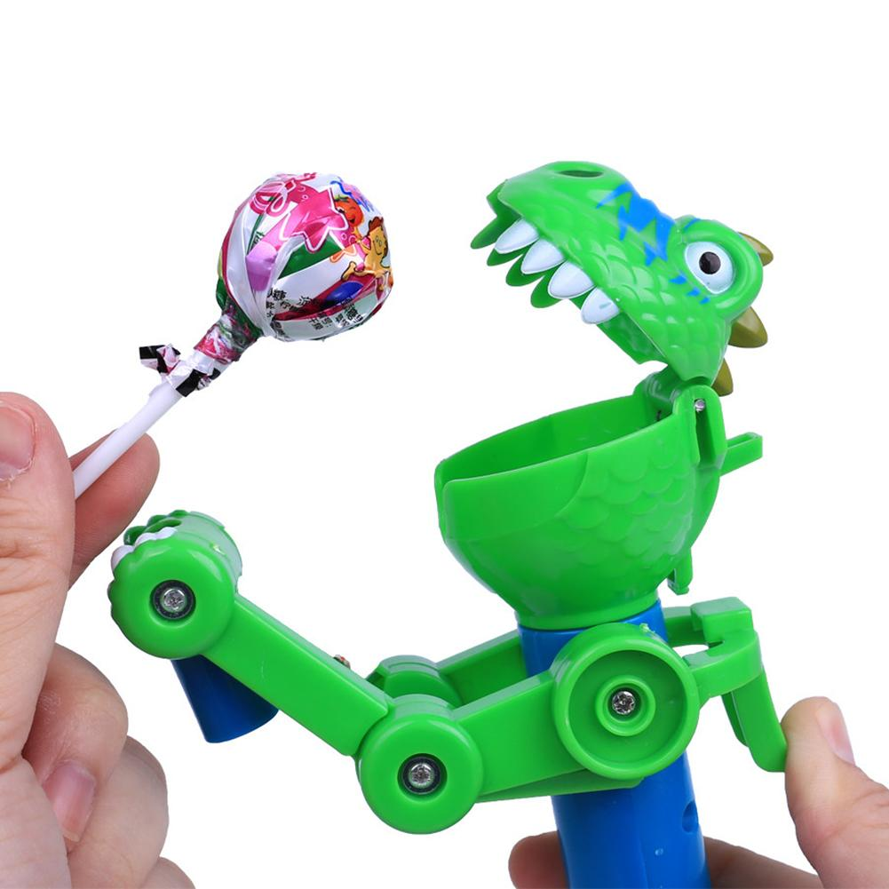 Cute Lollipop Holder Stand Storage Robot Innovative Artifact Funny Eat Lollipop Robot Creative Decompression Toy Gifts