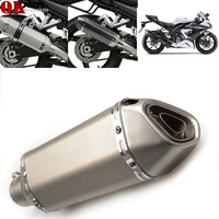 Newest Arrival Motorbike 51mm exhaust muffler pipe with db killer 36mm connector For TRIUMPH BONNEVILLE SE T100 T120