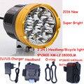 8,4 V Wateprroof 9L2 18000 Lumen Radfahren Helm Fahrrad Lampe 9 x XM-L L2 LED Bike Light & Scheinwerfer Scheinwerfer 3 modi