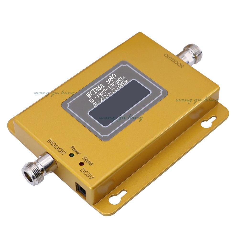 Ensemble complet LCD 3G UMTS WCDMA 2100 Mhz répéteur téléphone Mobile 3G amplificateur de Signal WCDMA amplificateur de répéteur de Signal + antennes 13db Yagi - 2