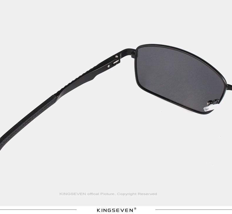 KINGSEVE Brand rectangular sunglasses male and female neutral sunglasses retro sunglasses with polarized lenses uv 400 7