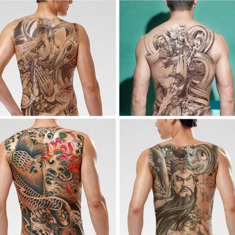 685d08aaef25d Waterproof Temporary Tattoo Sticker Koi Lotus Women Men'S Whole Back Tattoo  Large Tatto Stickers Flash Tatoo Fake Tattoos D3-in Temporary Tattoos from  ...