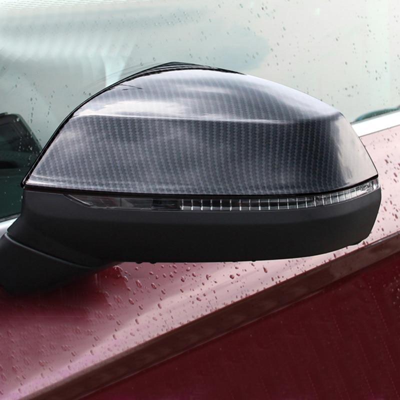 For Audi Q5 chrome rearview mirror cover Q5 2018 carbon fiber car sticker mirror mirror rearview mirror modification accessories