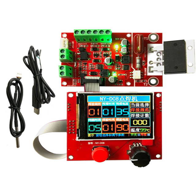 NY D08 Spot Welder Controller Pneumatic Color LCD Display Multi point Personalization