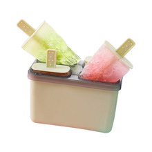 Food Grade Plastic PP Ice Cream Mould Cube Tray Popsicle Barrel Diy Dessert Mold With Sticks