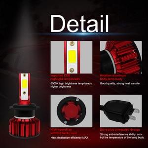 Image 4 - COOLFOX H7 80W LED Lamp for Auto 12000Lm H4 hi lo Led Light Turbo Bulb Headlight 9005 9006 H11 COB Chip Far Ampul HB4 6000K