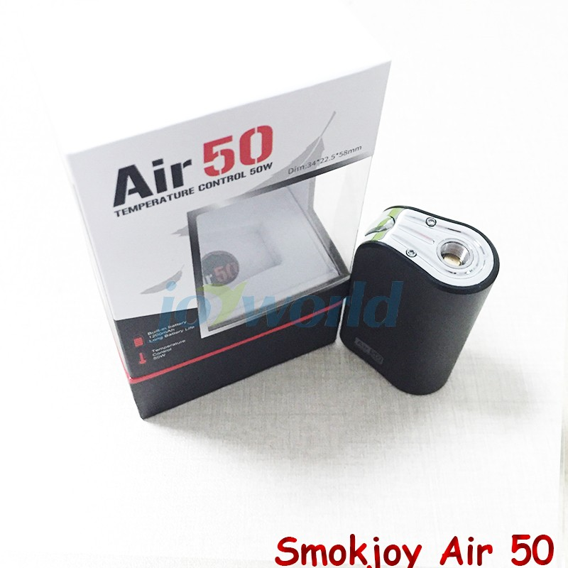 100%Electronic Cigarette Smokjoy Air 50W TC  VW Box Mod 1200mAh Build In Battery 7-50w Tiny Size SmokJoy air 50 VS evod mega YY (1)