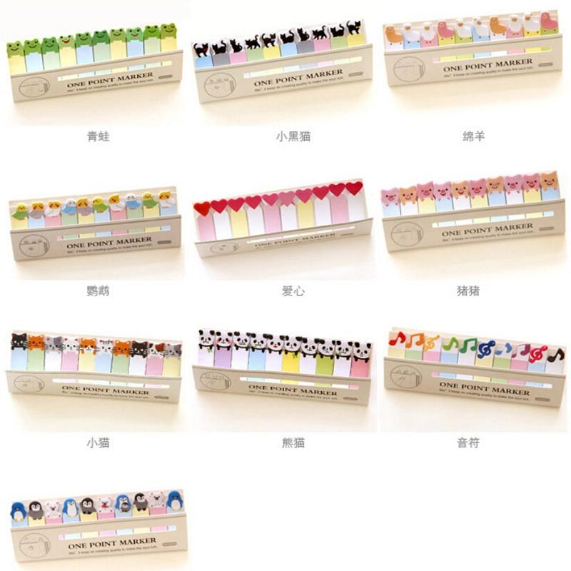 DIY Mini Cute Kawaii Cartoon Animal Memo pad Cat Panda Music Note Paper Stickers Korean Stationery Student 10061 все цены