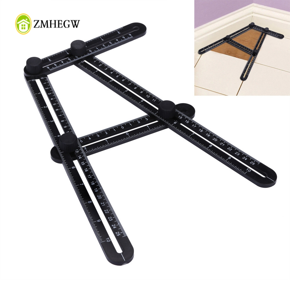 2018 New Arrivals Multifunctional Angle Model Angle Ruler Plastic Measuring Tool High Quality Folding Rule Hot Sale