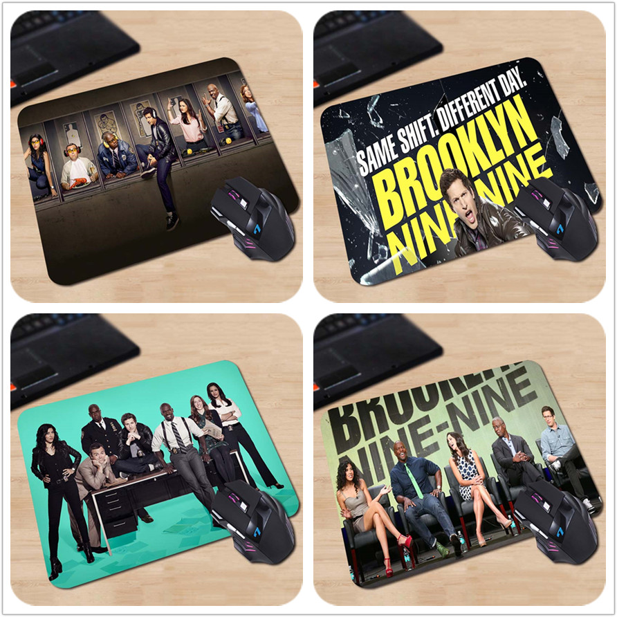 brooklyn nine nine cast members in the shooting room Rubber Soft Gaming Mouse Games Black Mouse pad