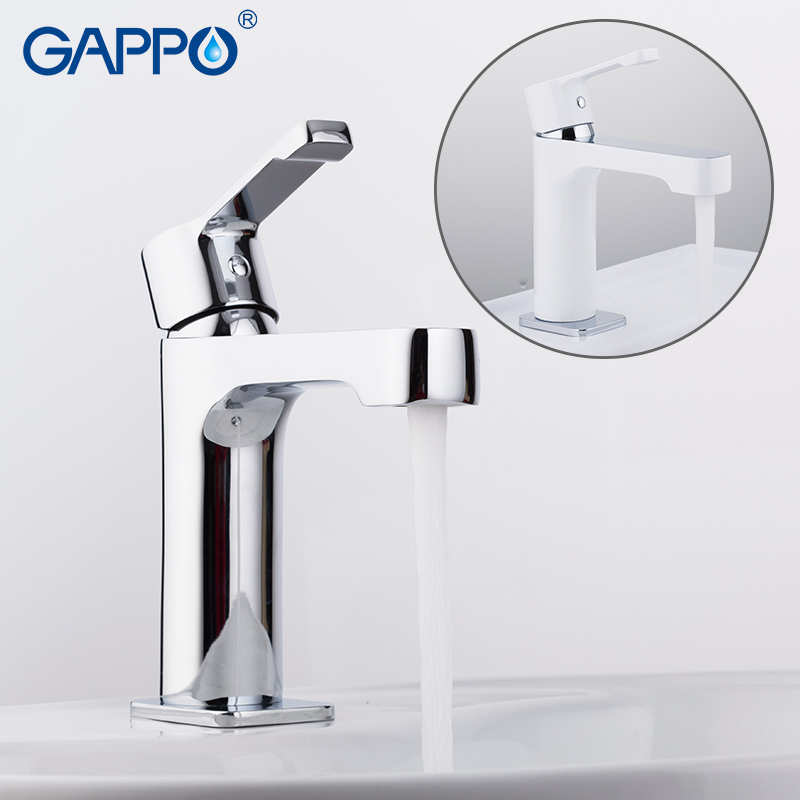 GAPPO basin faucet chrome white torneira wash basin sink faucets bathroom mixer taps bathroom basin sink mixer brass water tap white bathroom basin faucet fixture brass modern sink tap toilet water basin sink tap bathroom sink faucets water mixer