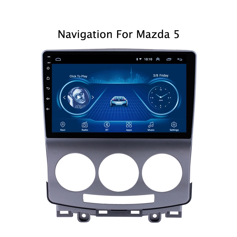 Super Slim Touchscreen Android 8.1 radio GPS Navigation für <font><b>Mazda</b></font> <font><b>5</b></font> <font><b>2005</b></font> 2006 2010 tabletten Stereo Wifi Multimedia USB Bluetooth image