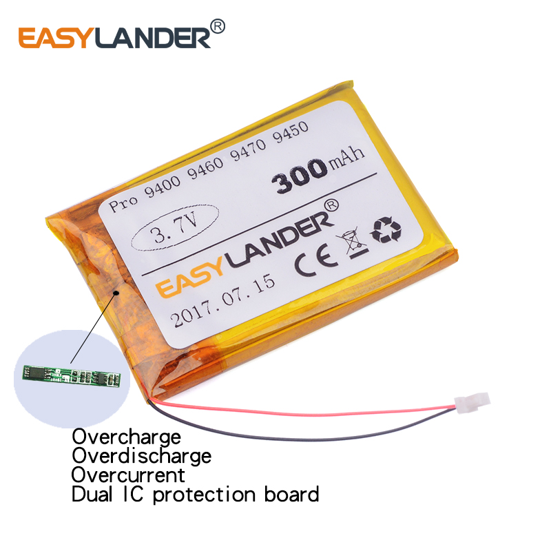 Easylander Замена 3.7 В 300 мАч гарнитура Батарея для ja-бюстгальтер Pro 9400 Pro 9450 Pro 9460 Pro 9465 pro 9470 MP3 MP4 DVR
