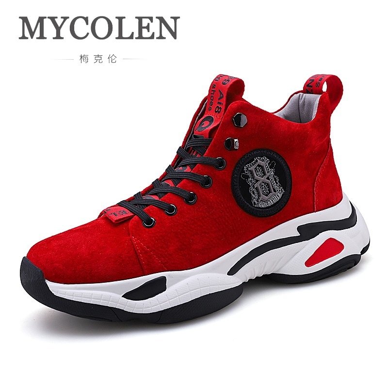 MYCOLEN 2018 Fashion Spring/Autumn Breathable Male Footwear Handmade Shoes For Men Lace Up Adult Sneakers Walking Casual Shoes vesonal 2017 brand casual male shoes adult men crocodile grain genuine leather spring autumn fashion luxury quality footwear man