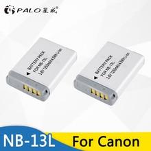 PALO 2Pcs 1250mAh NB-13L NB13L NB 13L Li-ion Camera Battery For Canon G7 X Mark II G7X PM165 G5 X G5X G9 X G9X SX620 SX720 HS
