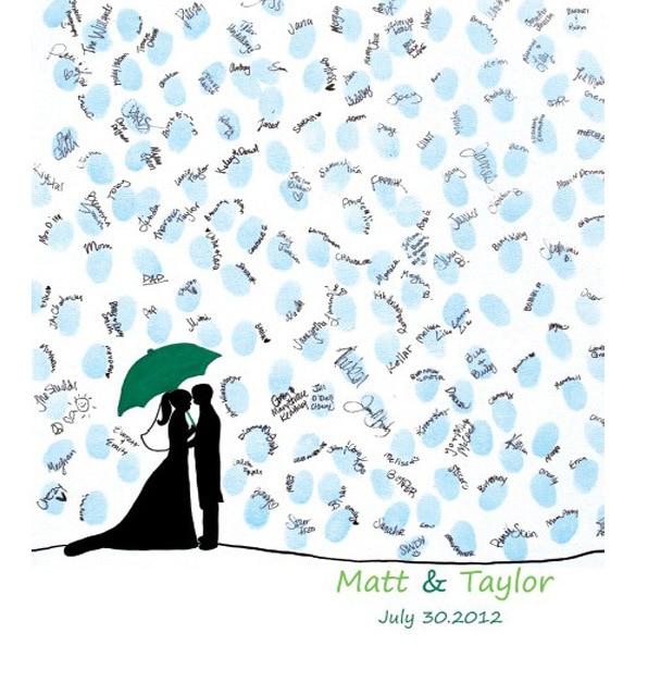 Fingerprint attendance draw European wedding business creative wedding Guestbook fingerprint attendance tree sign Casamento