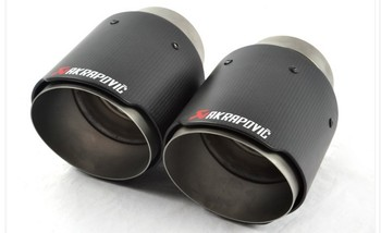 Smart 90 straight Inlet57mm-Outlet90mm for ak AKRAPOVIC carbon fiber exhaust tip exhaust pipe muffler for bmw bmw f30 akrapovic auspuffblende