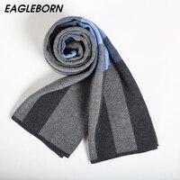 EAGLEBORN Men Scarf 2019 Autumn Winter Vintage Soft Plaid Scarf Men's Cashmere Scarf High Quality Brand Business Casual Scarfs