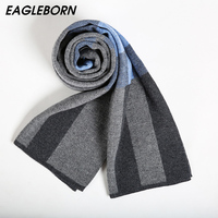 EAGLEBORN Men Scarf 2019 Autumn Winter Vintage Soft Plaid Scarf Men's Cashmere Scarf High Quality Brand Business Casual Scarfs