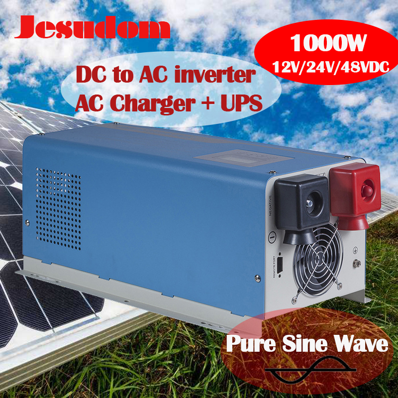 Off Grid Inverter 1KW 1000Watts 12V24V48VDC To 230VAC Toroidal Transformer Inverter with AC Charger and UPS