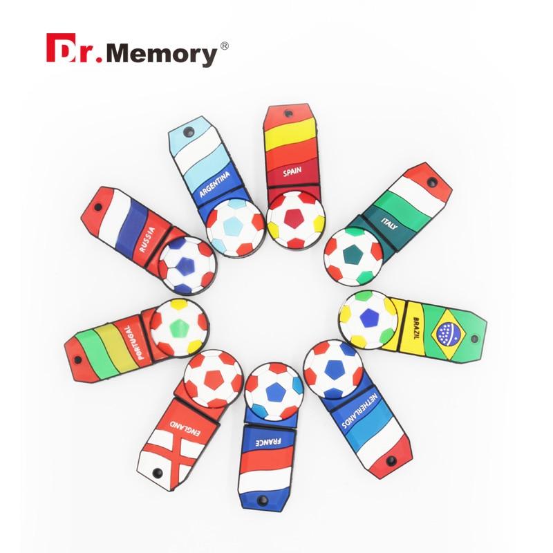 National team pen drive 64gb soccer usb flash drive 32gb usb stick Football fans flash card 16gb pendrive 8gb 4G thumbdrives