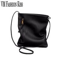 VM FASHION KISS Black Shoulder Bags Ladie Genuine Leather Women Small Bag For Womens Hight Quality
