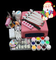 BTT-93 Hot Sale Pro 36W UV GEL Pink Lamp & 12 Color UV Gel Nail Art Tool Kits Sets